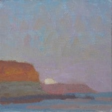 "American Legacy Fine Arts presents ""Coastal Transitions-June Moon Effect"" a painting by Daniel W. Pinkham."