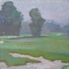 "American Legacy Fine Arts presents ""Quiet Layers' a painting by Daniel w. Pinkham."