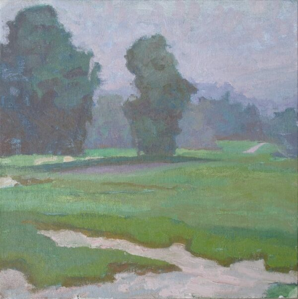 """American Legacy Fine Arts presents """"Quiet Layers' a painting by Daniel w. Pinkham."""
