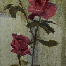 "American Legacy Fine Arts Presents ""Thompson Roses"" a painting by Tony Pro."