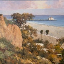 "American Legacy Fine Arts presents ""Santa Monica Afternoon"" a painting by Junn Roca."