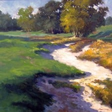 """American Legacy Fine Arts presents """"Afternoon Shades"""" a painting by Junn Roca."""
