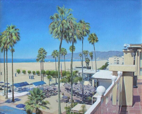 "American Legacy Fine Arts presents ""Jonathon Beach Club III"" a painting by Alexander V. Orlov."