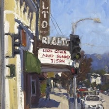 "American Legacy Fine Arts presents ""Movie Sunday; South Pasadena"" a painting by Scott W. Prior."