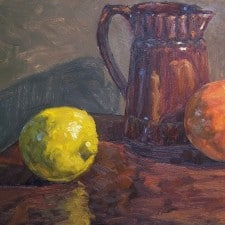"American Legacy Fine Arts presents ""California Citrus"" a painting by Scott W. Prior."