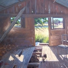 "American Legacy Fine Arts presents ""Tejon Shack"" a painting by Scott W. Prior."