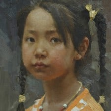 "American Legacy Fine Arts presents ""Long Life Luck"" a painting by Mian Situ."