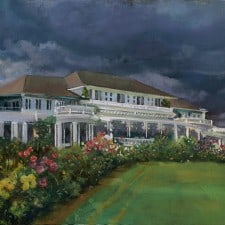 """American Legacy Fine Arts presents """"Passing Storm"""" a painting by William Stout."""
