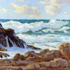 "American Legacy Fine Arts presents ""A Blustery Day, Palos Verdes"" a painting by Stephen Mirich."