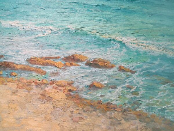 "American Legacy Fine Arts presents ""Abalone Cove Shoreline"" a painting by Stephen Mirich."