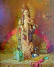 "American Legacy Fine Arts presents ""Kwan Yin"" a painting by Theodore N. Lukits."
