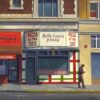 "American Legacy Fine Arts presents ""Pizza by the Slice"" a painting by Tony Peters."