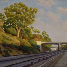"American Legacy Fine Arts presents ""Light and Shadow; Arroyo Freeway"" a painting by Tony Peters."
