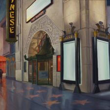 "American Legacy Fine Arts presents ""Chinese Theater"" a painting by Tony Peters."
