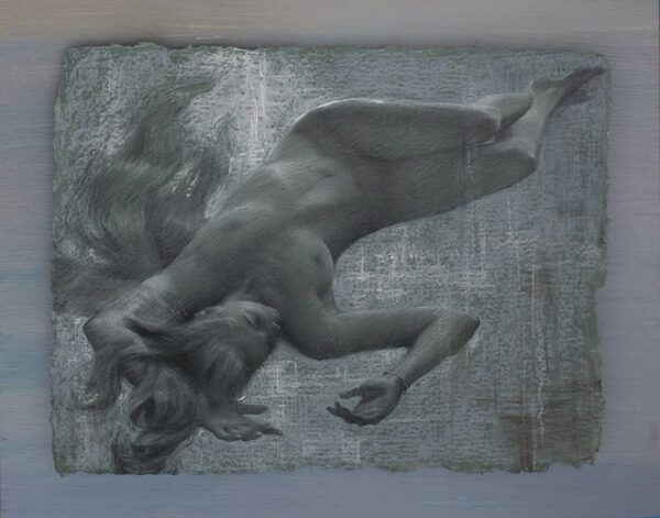 "American Legacy Fine Arts presents ""Floating Dream II"" a drawing by Alexey Steele."