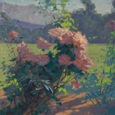 "American Legacy Fine Arts presents ""Roses; Los Angeles"" a painting by Alexey Steele."