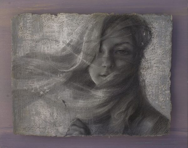 "American Legacy Fine Arts presents ""Whisper in a Wind"" a drawing by Alexey Steele."