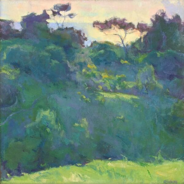 "American Legacy Fine Arts presents ""Landscape Silhouette, Portuguese Bend"" a painting by Amy Sidrane."
