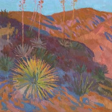 "American Legacy Fine Arts presents ""Golden Needles; El Prieto Canyon, Altadena"" a painting by Eric Merrell."