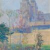 """American Legacy Fine Arts presents """"Study for Cathedral at Tours, circa 1916"""" a painting by Guy Rose (1867-1925)."""