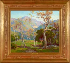 "American Legacy Fine Arts presents ""California Autumn; Ojai Valley"" a painting by Marion Kavanagh Wachtel (1876-1954)."