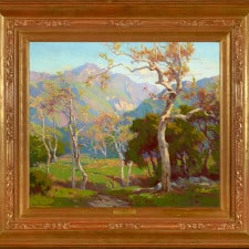 """American Legacy Fine Arts presents """"California Autumn; Ojai Valley"""" a painting by Marion Kavanagh Wachtel (1876-1954)."""