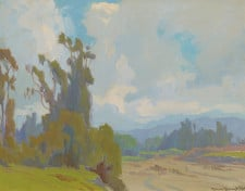 "American Legacy Fine Arts presents ""Eucalyptus, Silhouette"" a painting by Marion Kavanagh Wachtel (1876-1954)."