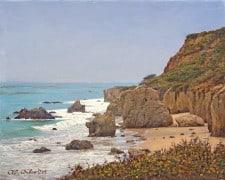"American Legacy Fine Arts presents ""El Matador Beach 1"" a painting by Alexander V. Orlov."