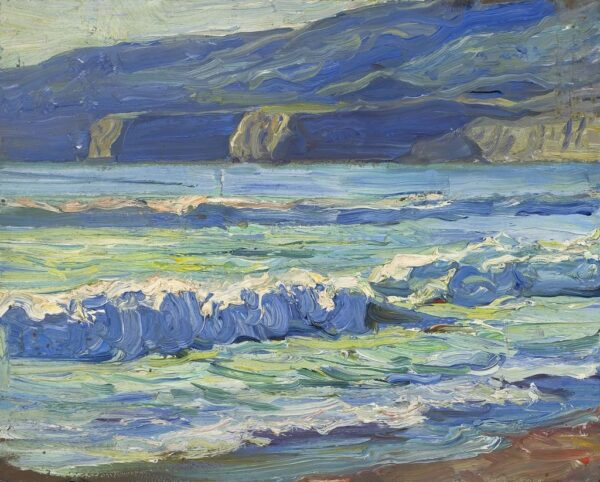 "American Legacy Fine Arts presents ""Blue Waters, Palos Verdes"" a painting by Tim Solliday."