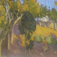 "American Legacy Fine Arts presents ""Eucalyptus Hillside, Pasadena"" a painting by Tim Solliday."