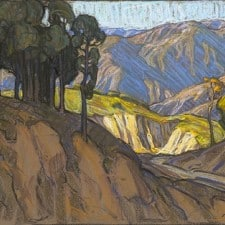 "American Legacy Fine Arts presents ""Mountains Above Eaton Canyon"" a painting by Tim Solliday."