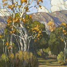 "American Legacy Fine Arts presents ""Tangled Sycamores; Eaton Canyon"" a painting by Tim Solliday."