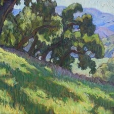 "American Legacy Fine Arts presents ""Hillside Meadow"" a painting by Tim Solliday."
