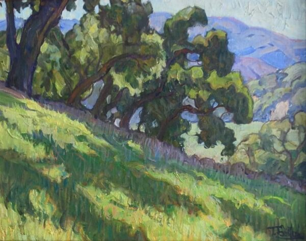 """American Legacy Fine Arts presents """"Hillside Meadow"""" a painting by Tim Solliday."""