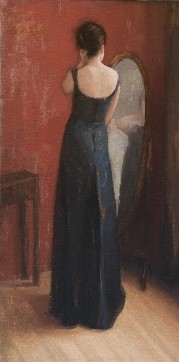 "American Legacy Fine Arts presents ""Black Dress"" a painting by Aaron Westerberg."