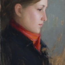 "American Legacy Fine Arts presents ""Jennifer"" a painting by Aaron Westerberg."