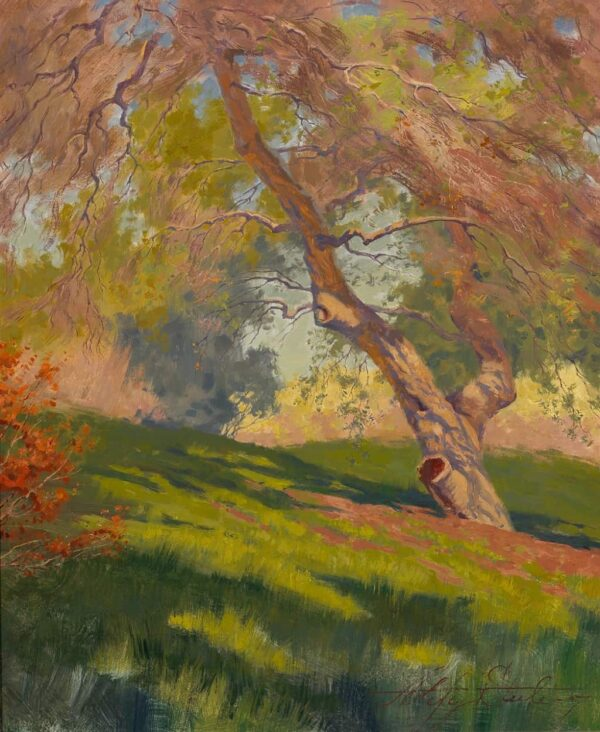 "American Legacy Fine Arts presents ""Bolero Springs Maiden; Irvine Land Preserve"" a painting by Alexey Steele."
