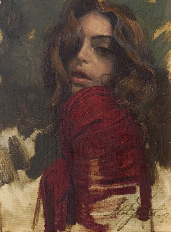 "American Legacy Fine Arts presents ""Red"" a painting by Alexey Steele."