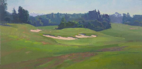 "American Legacy Fine Arts presents ""The 11th Hole' a painting by Alexey Steele."