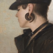 "American Legacy Fine Arts presents ""Cork Screw"" a painting by Aaron Westerberg."