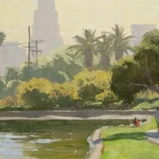 "American Legacy Fine Arts presents ""Echo Park"" a painting by Frank Serrano."