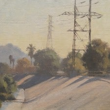 "American Legacy Fine Arts presents ""West Bank, L.A. River"" a painting by Frank Serrano."