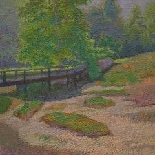 "American Legacy Fine Arts presents ""Iconic Bridge, Legendary Tree"" a painting by Daniel W. Pinkham."