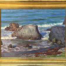 """American Legacy Fine Arts presents """"Morning Sun, Shark Harbor"""" a painting by Joseph Paquet."""