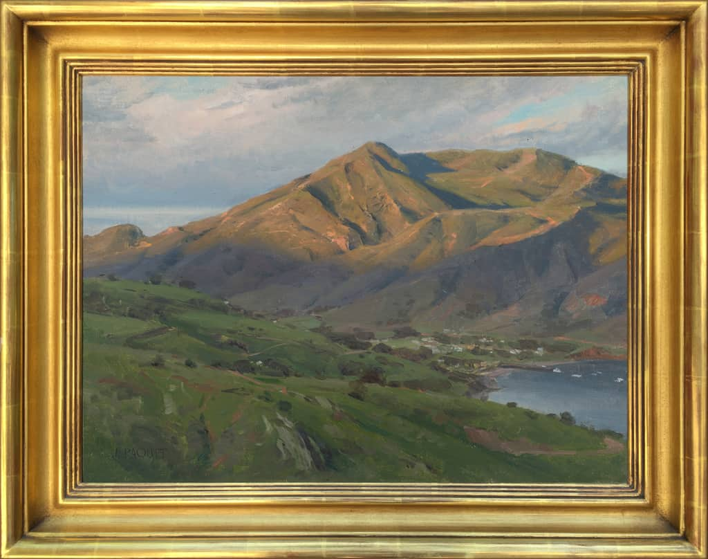 "American Legacy Fine Arts presents ""New Day for Two Harbors"" a painting by Joseph Paquet."