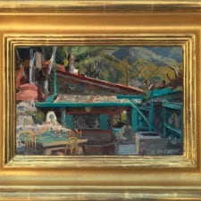 """American Legacy Fine Arts presents """"Will Richards Studio"""",a painting by Joseph Paquet."""