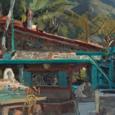 "American Legacy Fine Arts presents ""Will Richards Studio"" a painting by Joseph Paquet."