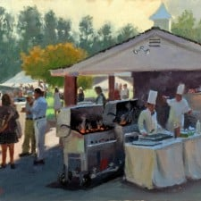 "American Legacy Fine Arts presents ""Afternoon Party"" a painting by John Cosby."