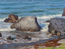 "American Legacy Fine Arts presents ""Morning Sun, Shark Harbor"" a painting by Joseph Paquet."