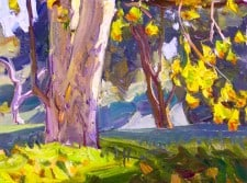 "American Legacy Fine Arts presents ""View from the Rough"" a painting by Tim Solliday."